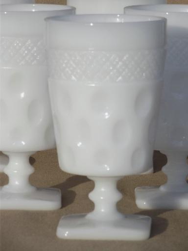 Vintage Milk Glass Tumblers Amp Footed Glasses Mckee