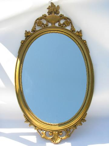 Vintage Mirror Ornate French Country Italianette Style