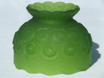 vintage moon & stars glass fairy light candle shade, lime green mist frosted glass
