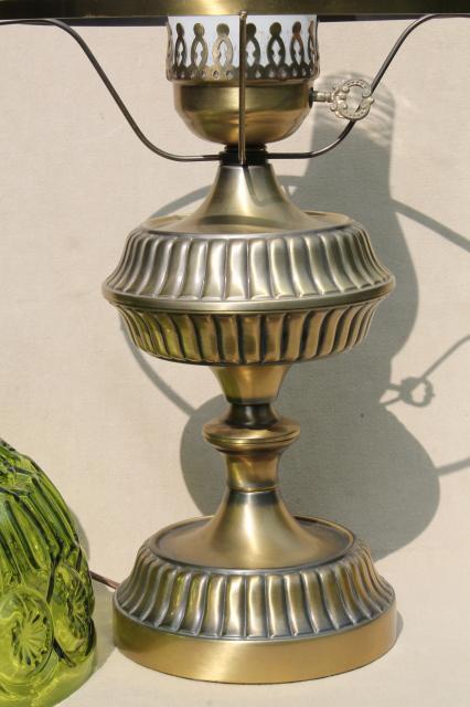 Vintage Moon Amp Stars Pattern Glass Shade Green Glass