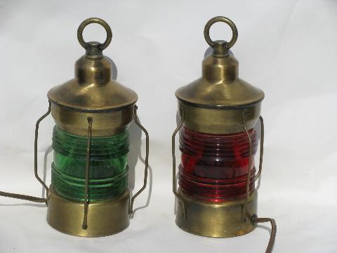 Vintage Nautical Br Lamps Ship Or