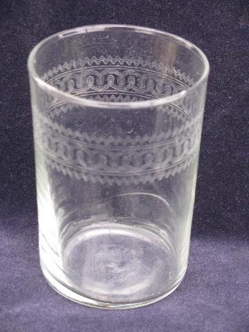 reserved-vintage-glass-tumbler-hair-for-asians