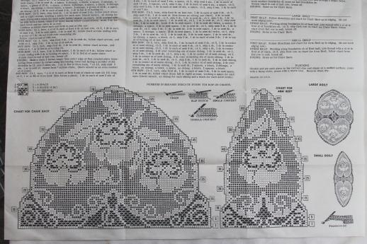 Needlework pattern for valentine hearts filet crochet lace chair set vintage needlework pattern for valentine hearts filet crochet lace chair set dt1010fo
