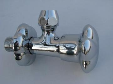 vintage new-old-stock Moen chrome kitchen or bathroom faucet shut-off valve