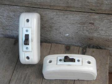 vintage new-old-stock deco ironstone architectural surface switches