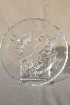 vintage oak leaf & acorn pattern pressed glass nut dish of small bowl