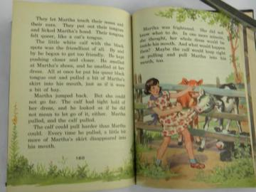 vintage old 1942 child's reader The Five-and-a-Half Club color pictures