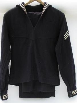 vintage old sailor's wool dress blues jumper & pants