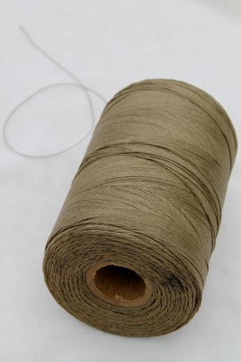 Vintage Olive Green Drab Heavy Duty Cord Sewing Thread For