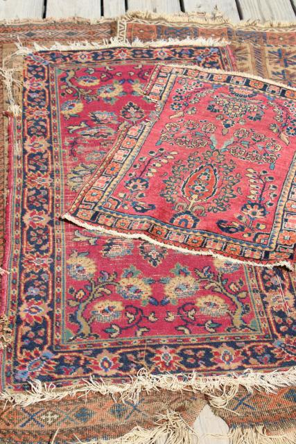 Antique Persian Rugs Small Shabby