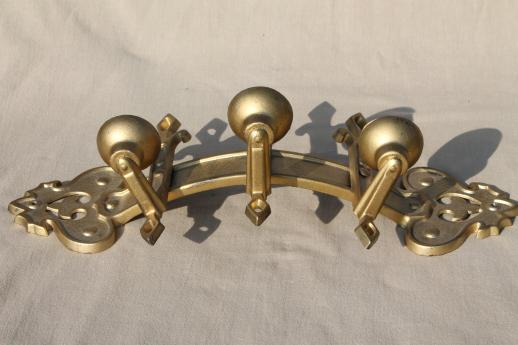 vintage ornate gold metal candle sconce, gothic fairy tale style wall mount candelabra