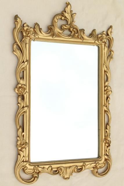 Vintage Ornate Gold Rococo Wall Mirror Syrowood Syroco