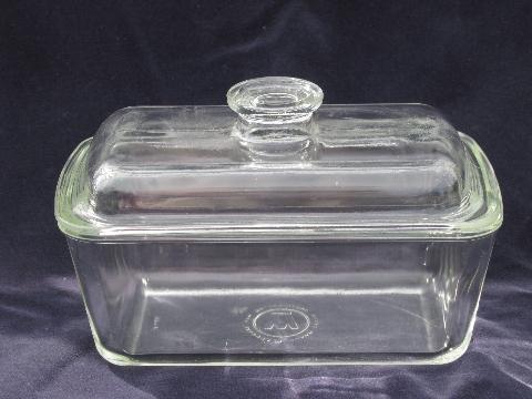 Vintage Oven Glassware Baking Glass Pans Lot Fire King