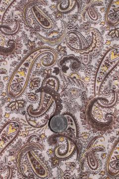 vintage paisley print fabric, fine lightweight cotton lawn, boho prairie girl style