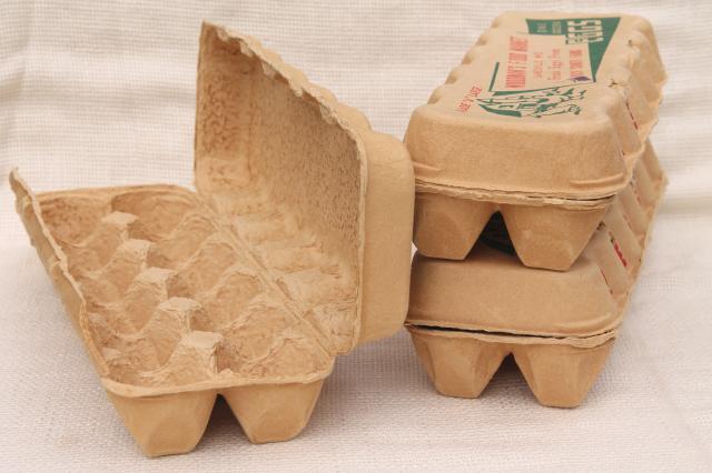 Vintage paper egg cartons farm fresh eggs woodman 39 s for How to make paper egg trays