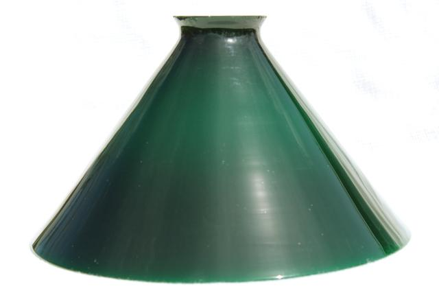 Vintage Pendant Light Shade Emerlite Green Amp White Cased