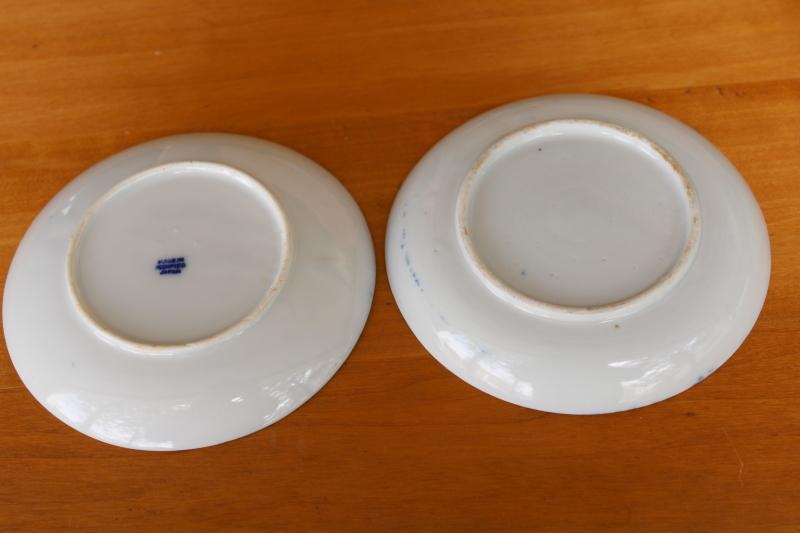 vintage phoenixware hand painted china saucers cup plates Japanese porcelain, Occupied Japan