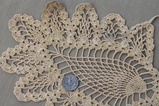 Vintage Pineapple Pattern Crochet Lace Butterfly Cotton Thread