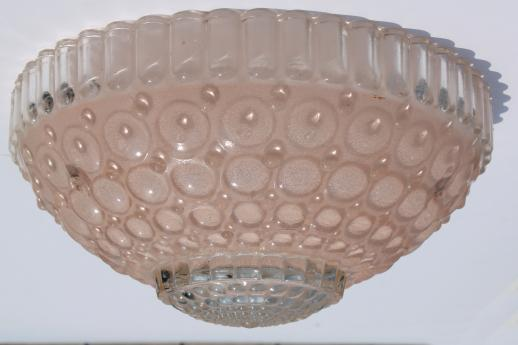 vintage pink bubble glass lamp shade for ceiling pendant light fixture