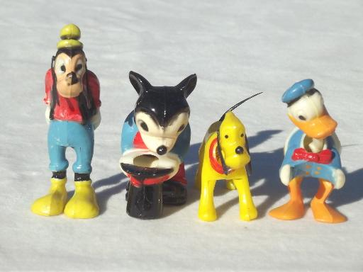 Vintage Plastic Cake Toppers Disney Characters Bobblehead