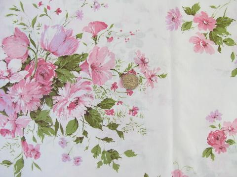 Displaying (18) Gallery Images For Pink Vintage Floral Print...
