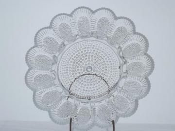 vintage pressed glass egg plate, deviled eggs serving tray