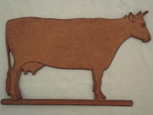 Prime Vintage Pressed Wood Cow Wall Art Carving Country Kitchen Decoration Inspirational Interior Design Netriciaus