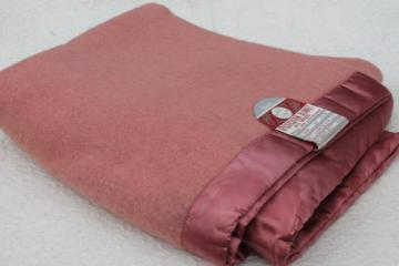 vintage pure wool blanket w/ original paper label from Montgomery Ward