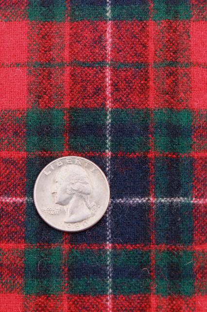 Vintage Pure Wool Tartan Plaid Fabric Imported Scots Or