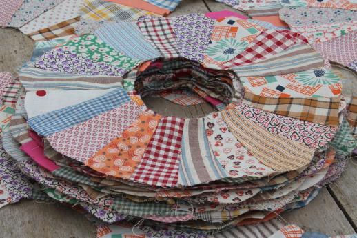 vintage quilt top blocks, dresden plate pattern quilt block, old ... : vintage quilt tops - Adamdwight.com