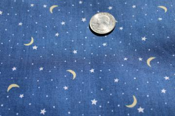 vintage quilting weight cotton fabric, starry night sky print Springs Industries