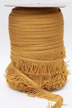 vintage rayon fringe sewing trim for upholstery or lampshades, antique gold bullion braid edge