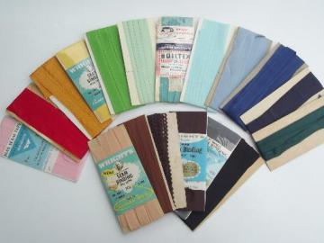 Vintage Haberdashery Unused 192030s Vintage Blue Sewing Trims Ribbons Journal Supplies