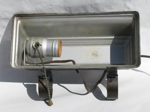 Remarkable, rather vintage headboard lamps