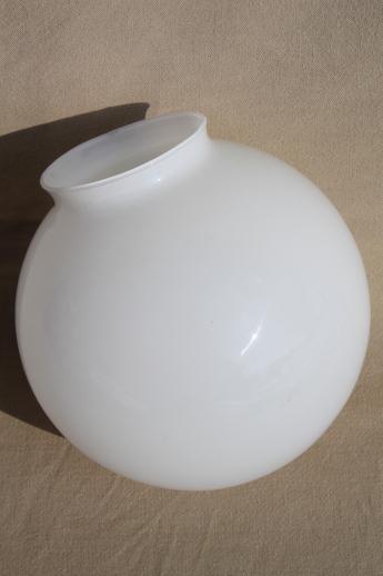 vintage replacement glass globe shade translucent milk. Black Bedroom Furniture Sets. Home Design Ideas