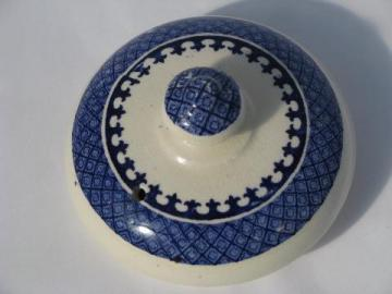vintage replacement lid for old blue willow pattern china tea pot