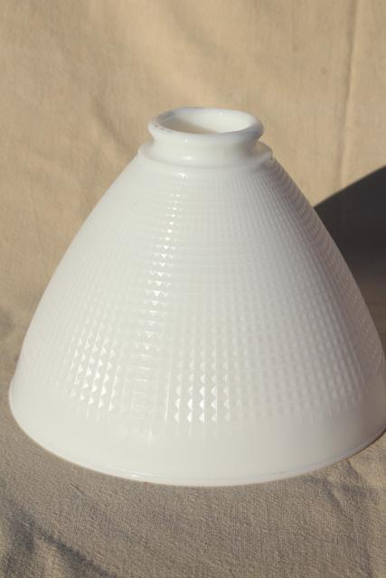 vintage replacement shade, Corning glass diffuser reflector, torchiere shape