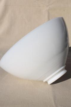 vintage replacement shade, white milk glass diffuser reflector, torchiere shape