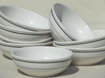 vintage restaurant ware china, diner soup / stew / chili bowls set of 8