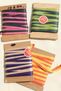 vintage ribbon, candy striped craft paper gift wrap package tie ribbons made in Japan