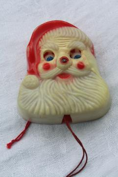 vintage rolling eyes Santa plastic Christmas holiday party novelty pin back brooch
