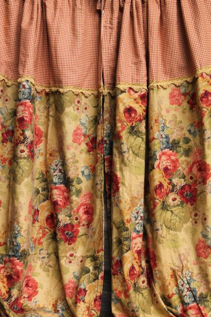 Vintage Shabby Chic Style Floral Print Home Decor Fabrics Decorator