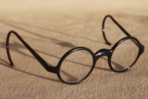 vintage round bakelite eyeglasses, round frame glasses ...