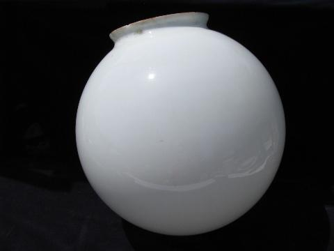 Round white glass globe replacement lamp ceiling fixture light shade vintage round white glass globe replacement lamp ceiling fixture light shade audiocablefo