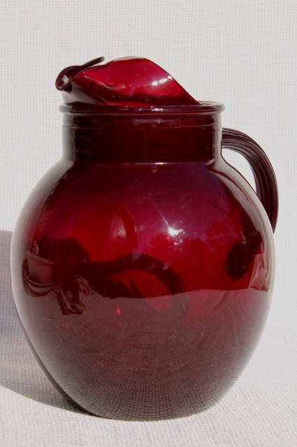 vintage-ruby-red-glass