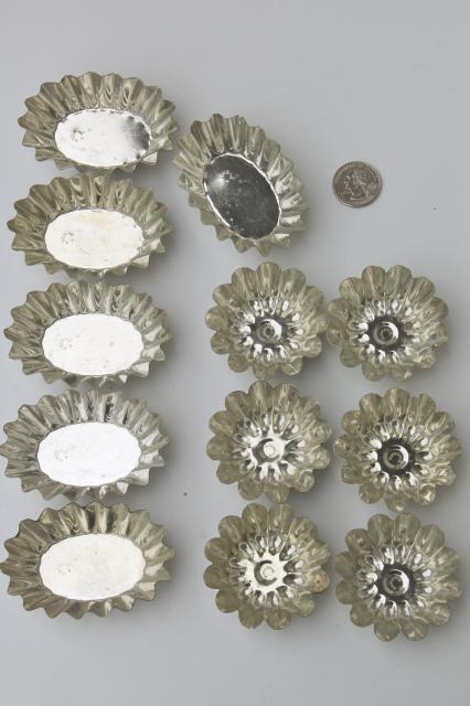 Vintage Sandbakkel Tin Molds Amp Tart Pans Fluted Metal