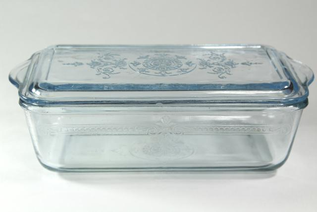 Vintage Sapphire Blue Philbe Fire King Oven Ware Glass