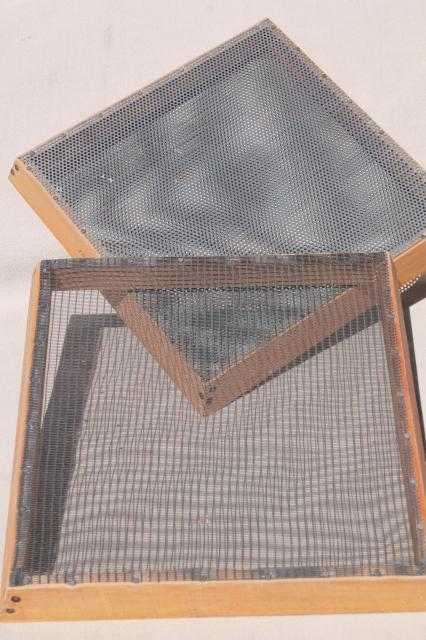 Vintage Seed Cleaning Screens Stacking Wood Amp Metal