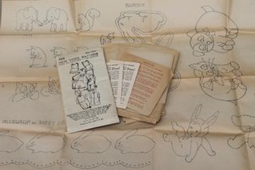 vintage sewing pattern, 1930s infant layette w/ transfers - nice for antique baby doll clothes!