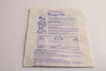 vintage sewing pattern w/ embroidery transfer, women & girls hood scarf &mittens